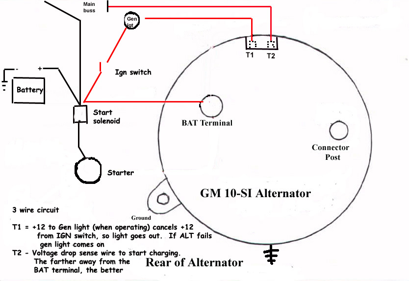 Charge indicator light - huh? | Pontiac GTO Forum 4 wire alternator wiring diagram Pontiac GTO Forum