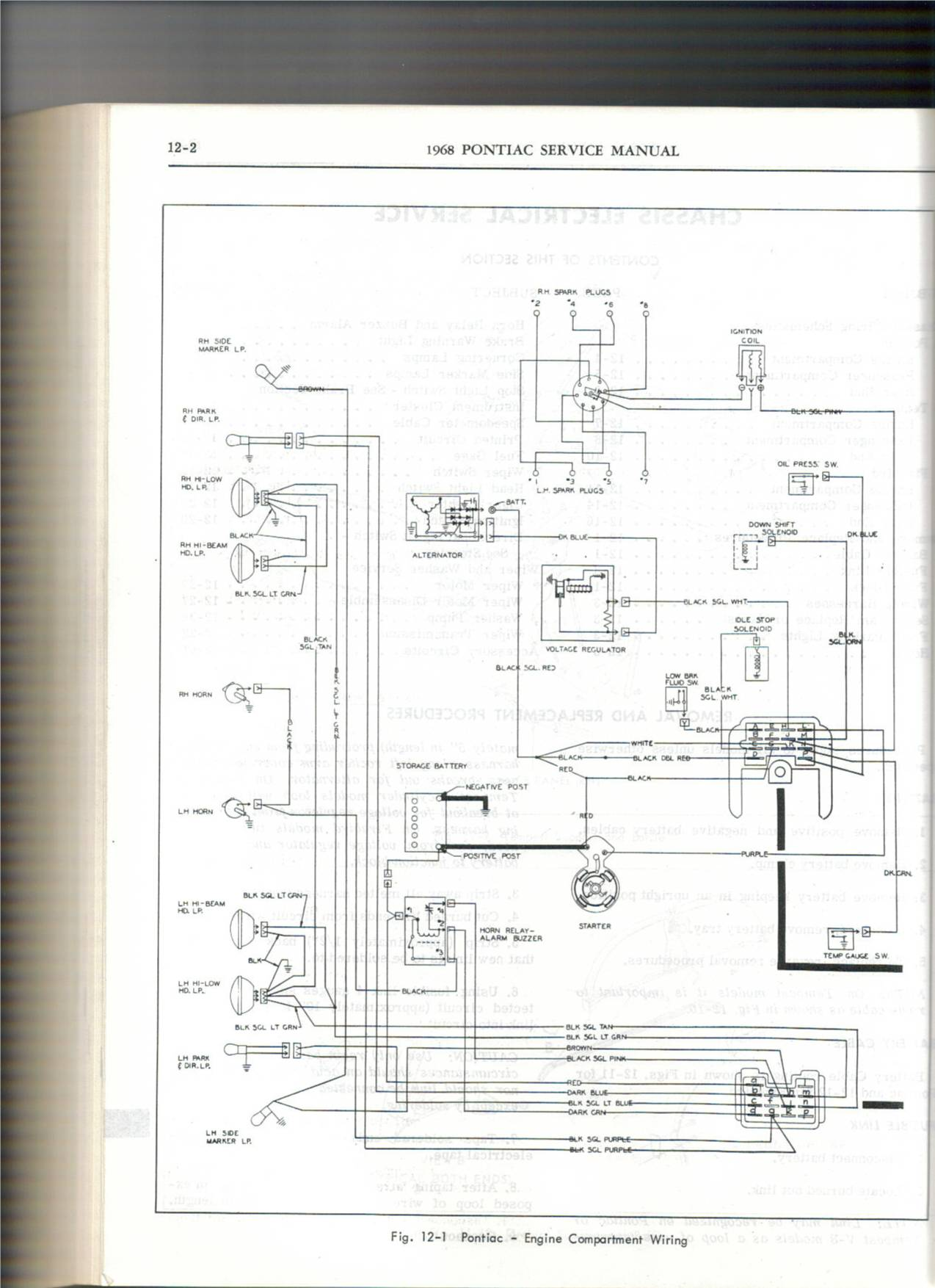 Gto Wiring Diagram Scans Page 2 Pontiac Forum 1969 El Camino Lights Click Image For Larger Version Name 68 Engine Views 6595 Size