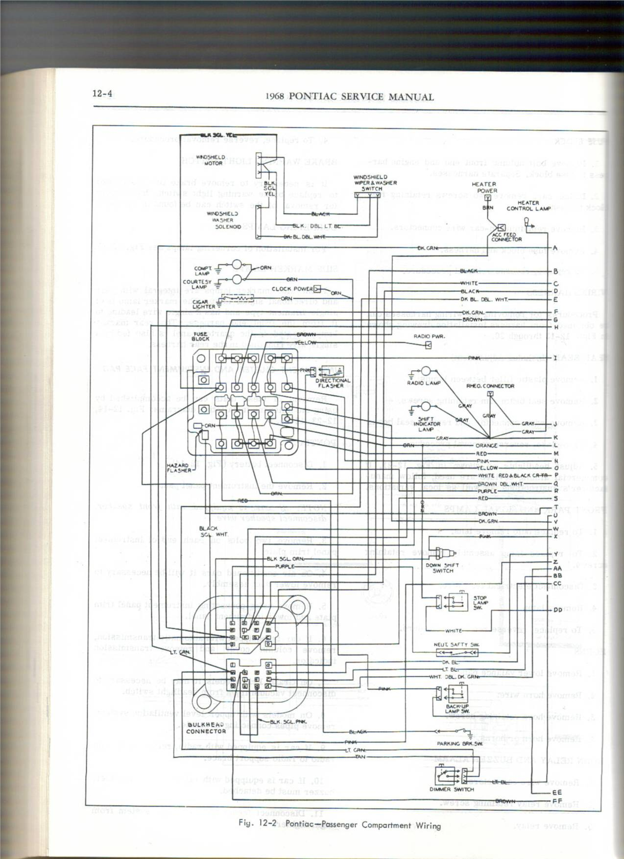 gto wiring diagram scans page 2 pontiac gto forum click image for larger version 68 passenger jpg views 12488 size