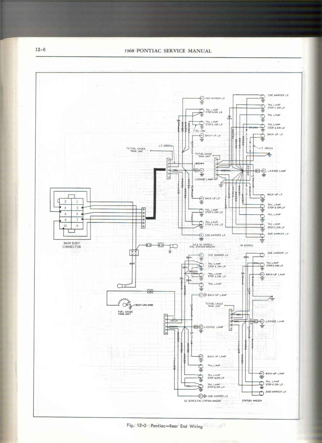 1968 Pontiac Gto Wiring Diagram Library Mustang Air Conditioning Click Image For Larger Version Name 68 Tail Views