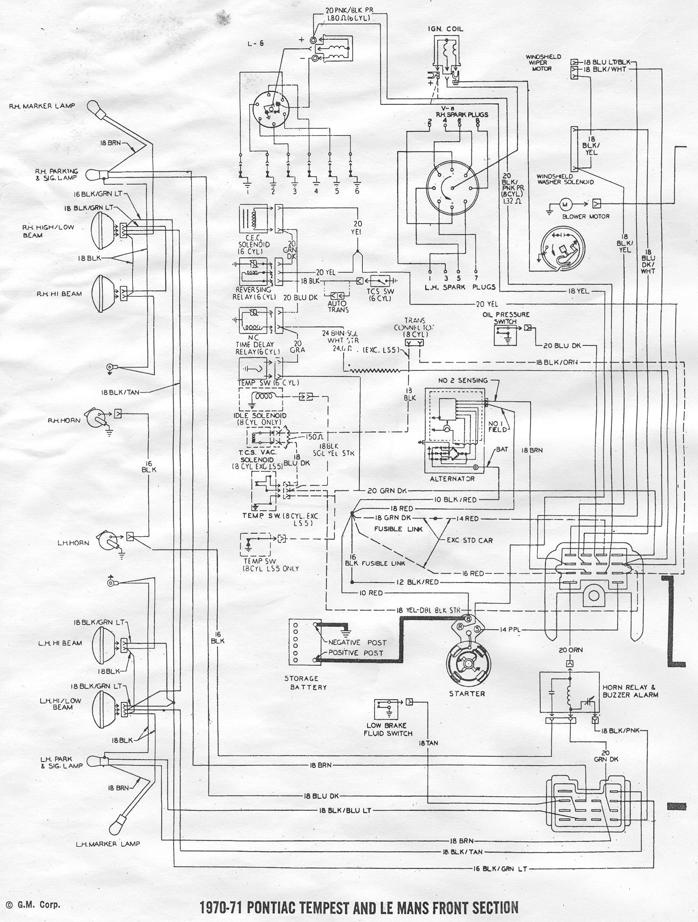 1968 Pontiac Gto Wiring Diagram Library Mustang Air Conditioning Click Image For Larger Version Name 70 71 Page1