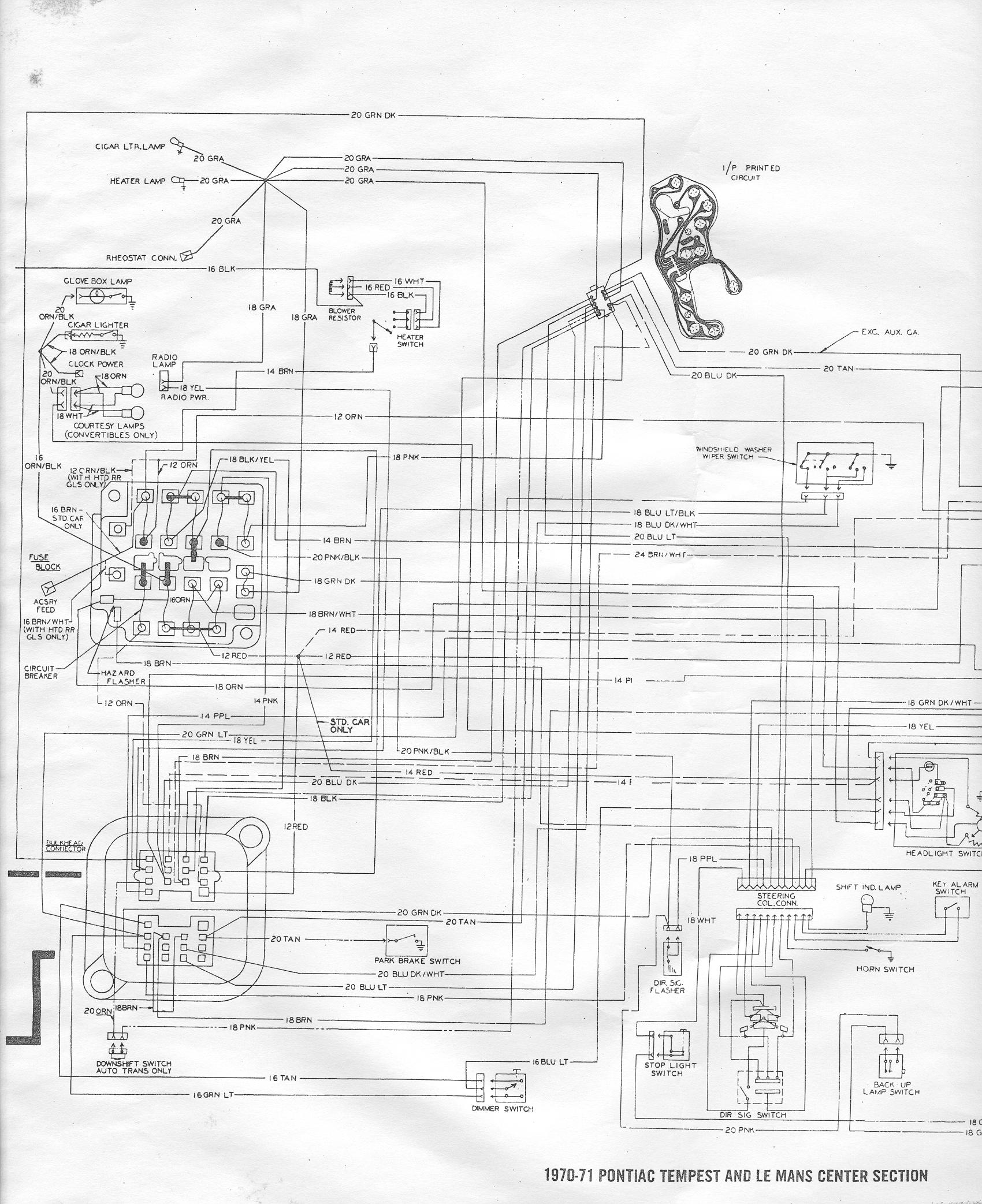 1967 pontiac gto wiring diagram color