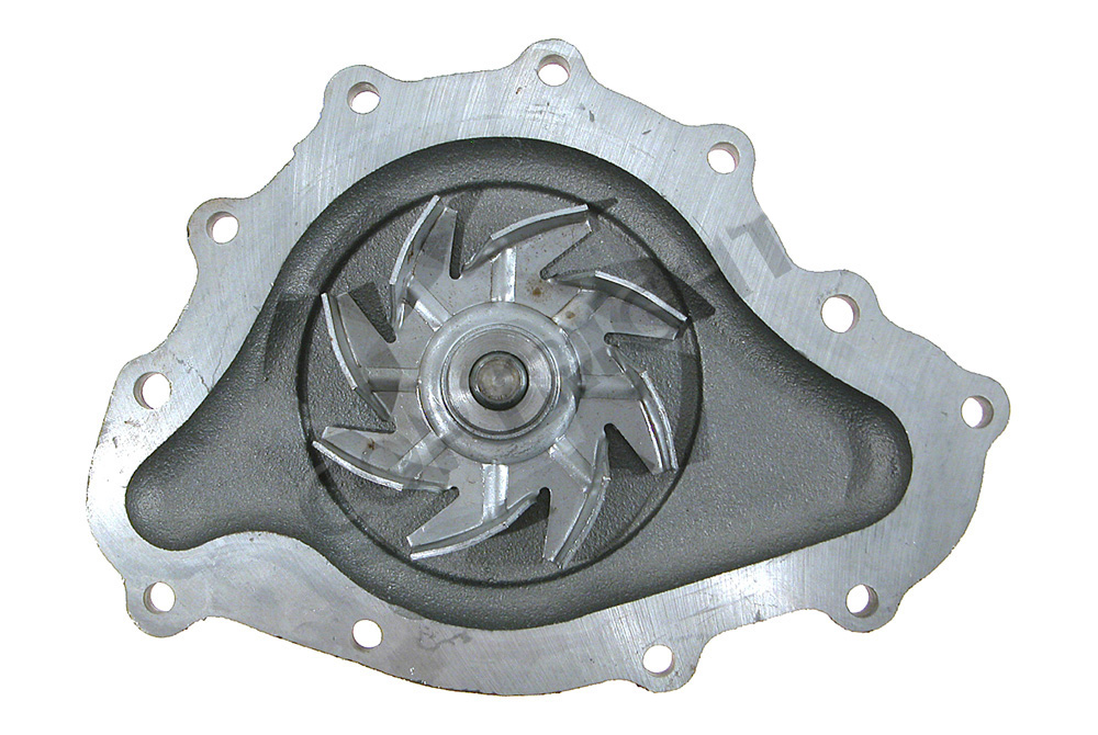 PRW Water Pump 1445500; Satin Aluminum Mechanical for Pontiac 265-455 V8