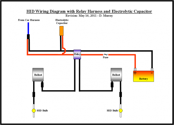 Hid problem not bright enough need help pontiac gto forum click image for larger version name hidwiringdiagramwithrelayharnessandelectrolyticcapacitorg views 19171 size 734 asfbconference2016 Image collections