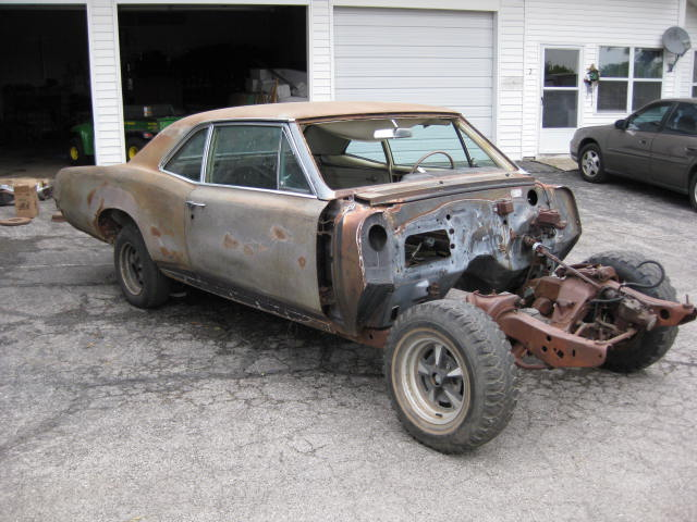 1967 Pontiac GTO Rare Post Car Purple Mist 400 4 Spped Car