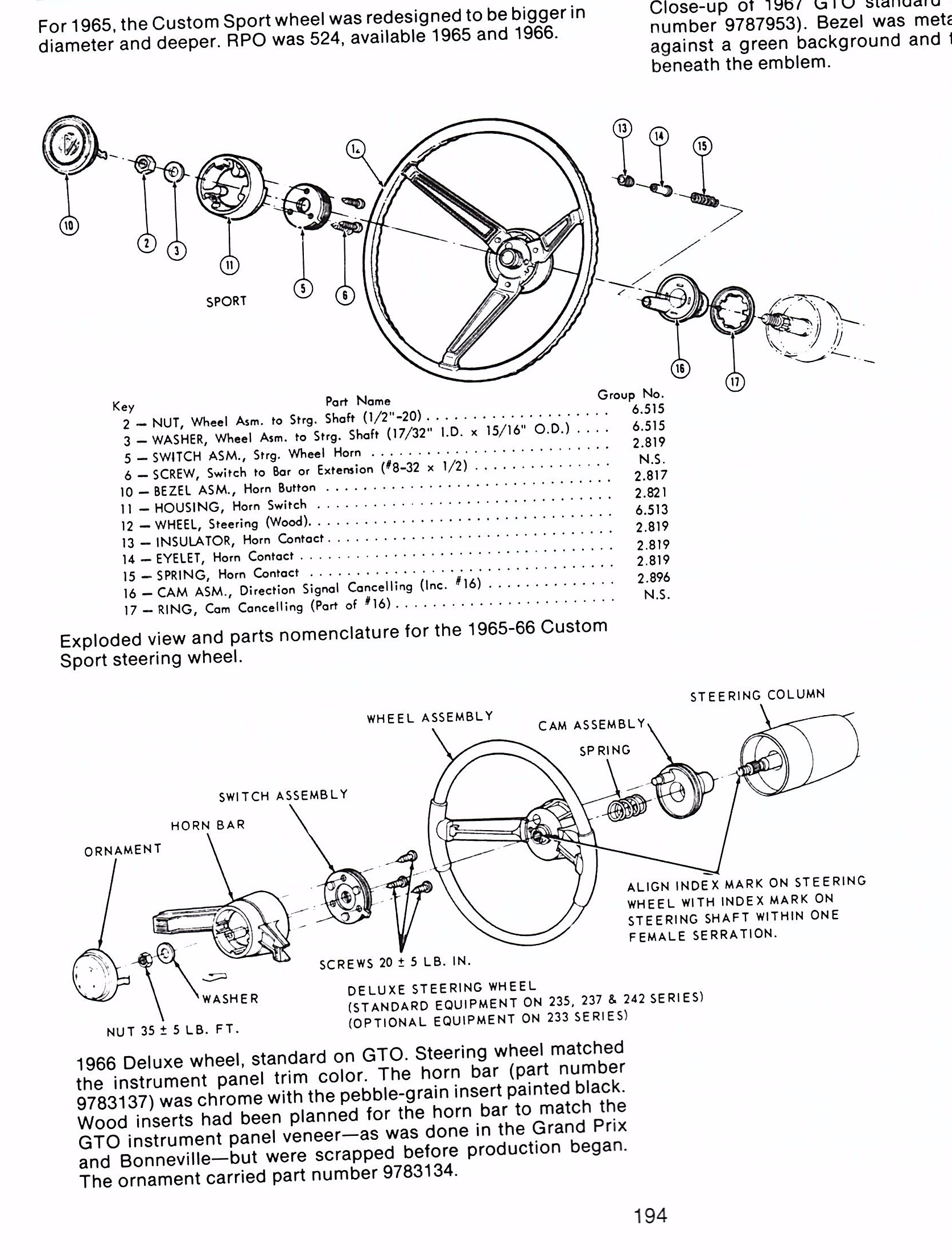 Missing Spring-  U0026 39 65- U0026 39 66 Custom Sport Wheel
