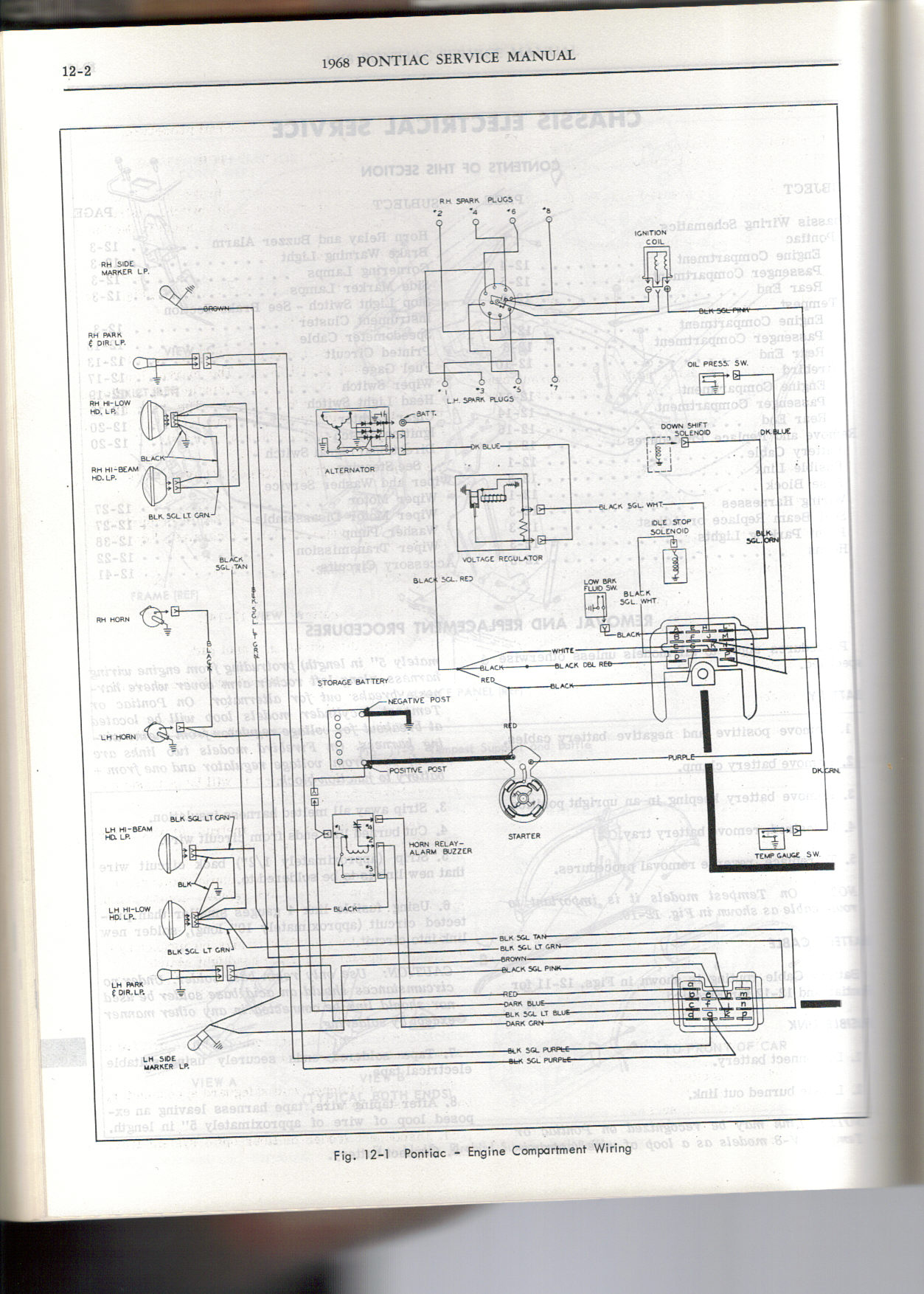 wiring diagram for 1968 pontiac