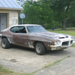 On Frame Resto 1972 GTO Right Side