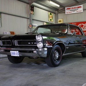 Black on Red 1965 GTO